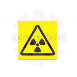 Radiation Symbol Yellow Background Sign