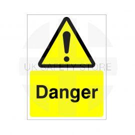 Danger Sign Or Sticker