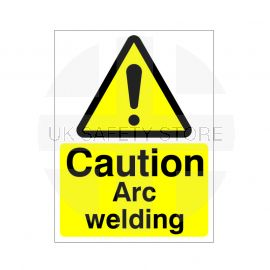 Caution Arc Welding Sign Or Sticker