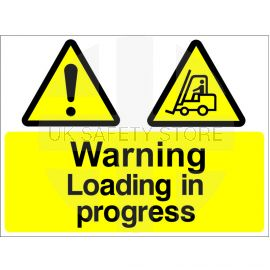 Warning Loading In Progress Sign