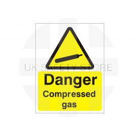 Danger Compressed Gas Sign