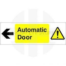 Automatic Door Sign 'arrow left'