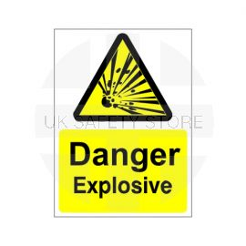 Danger Explosive Sign