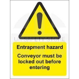 Entrapment Hazard Sign