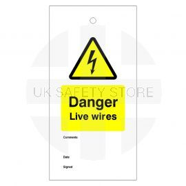 Danger Live Wires Warning Tags