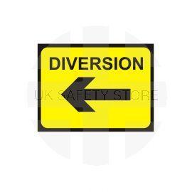 Diversion Left Arrow - Traffic Sign - 1050W mm x 750Hmm