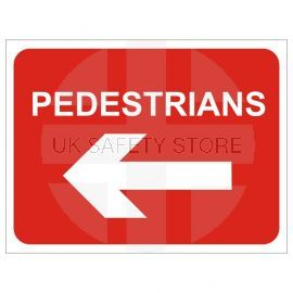 Pedestrians Keep Left Temporary Traffic Sign
