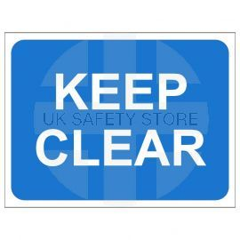 Keep Clear Temporary Traffic Sign