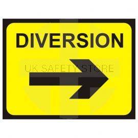 Diversion (Arrow Right) Temporary Traffic Sign