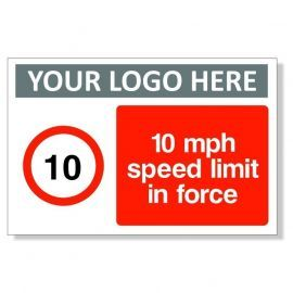 10MPH Speed Limit In Force Sign
