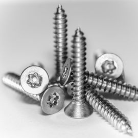 "Stainless Steel Star Pin Button Self Tapping Screw 8 x 1"" Pack of 10"