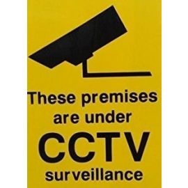 These Premises Are Under CCTV Surveillance Stickers (Pack of 12)