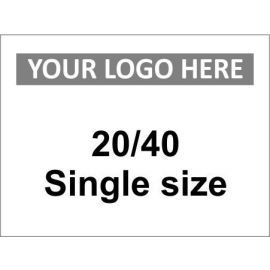 20/40 Single Size Sign