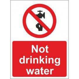 Not drinking water sign in a variety of sizes and materials with or without your logo