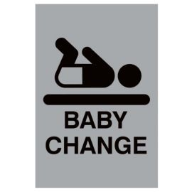 Aluminium Baby Changing Sign