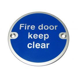 Fire Door Keep Clear Aluminium Door Sign
