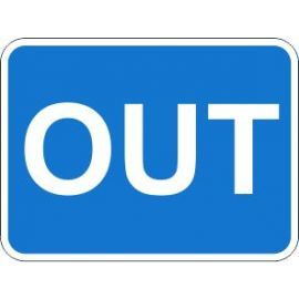 Out Traffic Sign