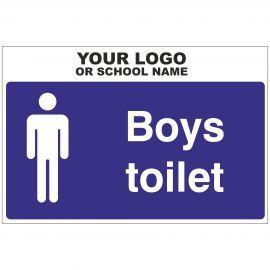 Boys Toilet Door Sign (Landscape)