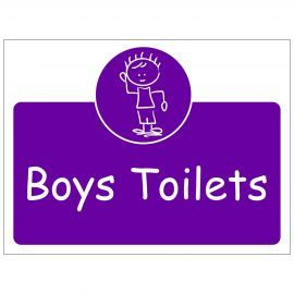 Boys Toilets Door Sign