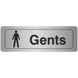 Gents Aluminium Door Sign