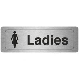 Ladies Aluminium Door Sign