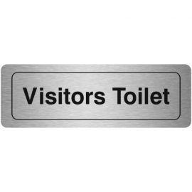 Visitors Toilet Aluminium Door Sign