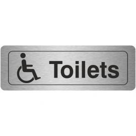 Disabled Toilet Aluminium Door Sign