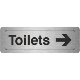 Toilets Arrow Right Aluminium Door Sign