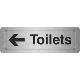 Toilets Arrow Left Aluminium Door Sign