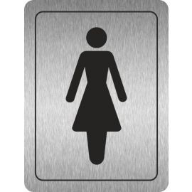 Ladies Toilets (Symbol) Aluminium Door Sign