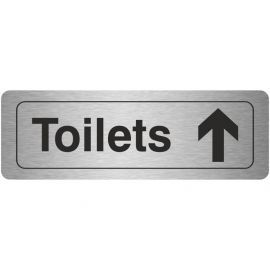 Toilets Straight Ahead Aluminium Door Sign