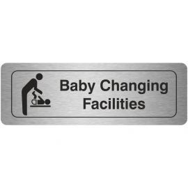 Baby Changing Facilities Aluminium Door Sign