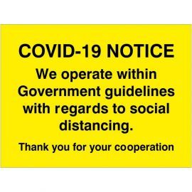 We Operate Within Government Guidelines Sticker