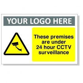 These Premises Are Under 24 Hour CCTV Surveillance CCTV Sign