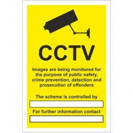 CCTV Sign - Data Compliant  (writable)