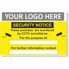 These Premises Are Monitored By CCTV Surveillance Security Notice Sign
