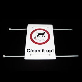 Clean It Up (Your Text Here) Sign