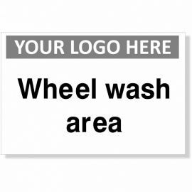 Wheel Wash Area Custom Logo Sign