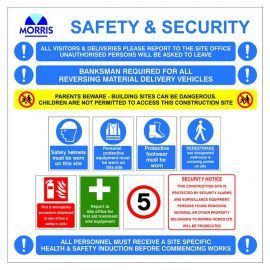 CUSTOM LOGO Construction Site Safety Board Sign