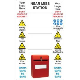 Near Miss Sign 600W X 1000Hmm Aluminium Composite Sign With Your Logo