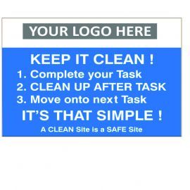 Keep It Clean Custom Logo Recycling Sign