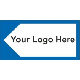 Directional Board Arrow Left Sign In A Variety of Sizes and Materials With Your Logo