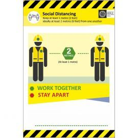 Work Together Stay Apart Covid 19 Sign
