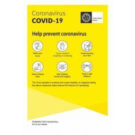 Help Prevent Coronavirus Covid-19 Sign