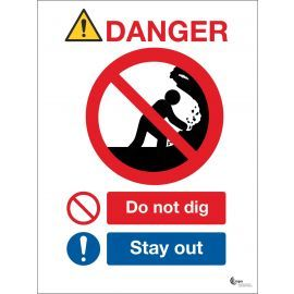 Danger Do Not Dig Sign - Stay Away