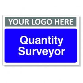 Quantity Surveyor Custom Logo Door Sign