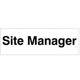 Site Manager Door Sign