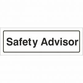 Safety Advisor Door Sign