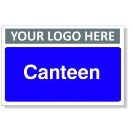 Canteen Custom Logo Door Sign