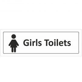 Girls Toilet Door Sign With Symbol